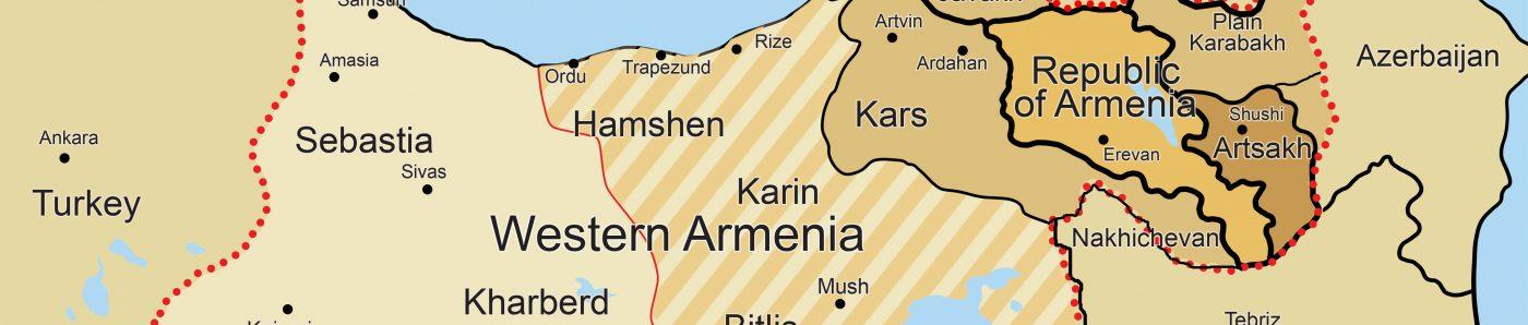 Государство Армения - Западная + Киликия + Восточная + Арцах нагорный и равнинный - 31 - анг.
